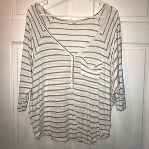 Long sleeve loose striped shirt